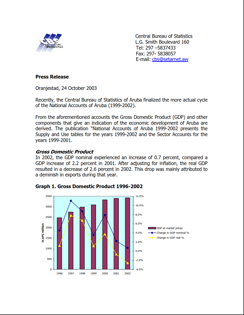 Press Release national accounts 1999-2002